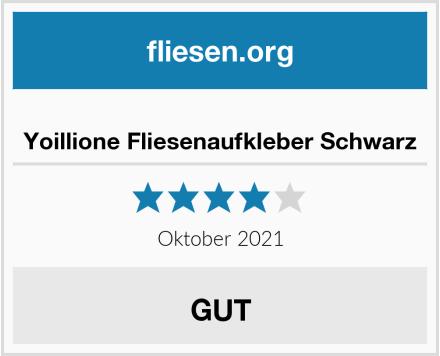 no name Yoillione Fliesenaufkleber Schwarz Test