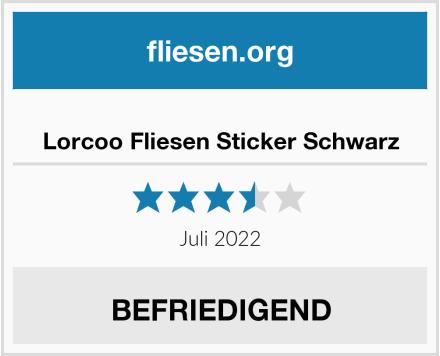Lorcoo Fliesen Sticker Schwarz Test