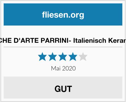 no name CERAMICHE D'ARTE PARRINI- Italienisch Keramik Fliese Test