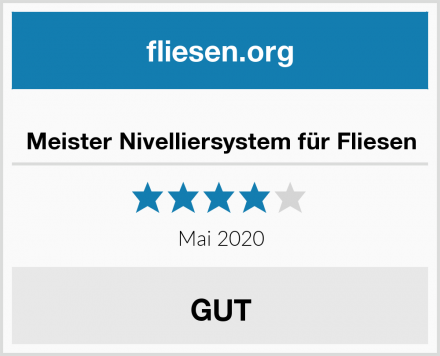 Meister Nivelliersystem für Fliesen Test