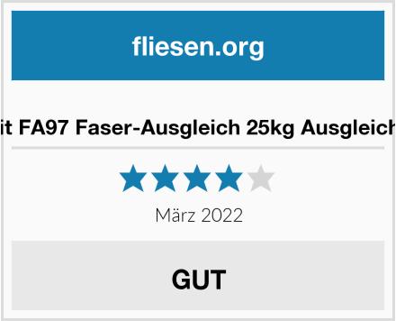 Thomsit FA97 Faser-Ausgleich 25kg Ausgleichmasse Test