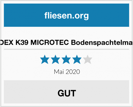 ARDEX K39 MICROTEC Bodenspachtelmasse Test