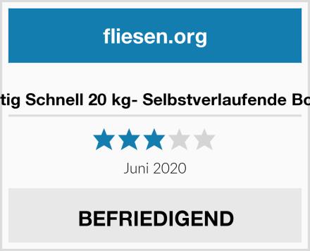 Lugato Fliesst & Fertig Schnell 20 kg- Selbstverlaufende Bodenausgleichmasse Test