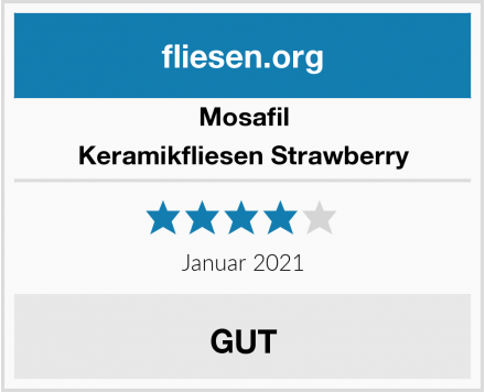 Mosafil Keramikfliesen Strawberry Test