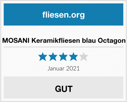 MOSANI Keramikfliesen blau Octagon Test