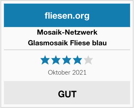 Mosaik-Netzwerk Glasmosaik Fliese blau Test