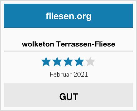 wolketon Terrassen-Fliese Test