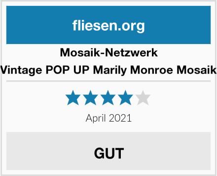 Mosaik-Netzwerk Retro Vintage POP UP Marily Monroe Mosaik Fliese Test