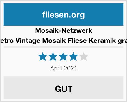 Mosaik-Netzwerk Retro Vintage Mosaik Fliese Keramik grau Test