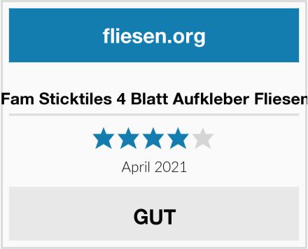 Fam Sticktiles 4 Blatt Aufkleber Fliesen Test