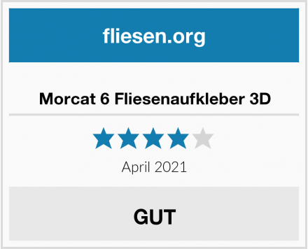 Morcat 6 Fliesenaufkleber 3D Test