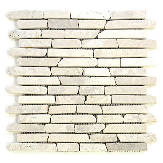 Divero 11 Matten 30 x 30cm Marmor Naturstein-Mosaik