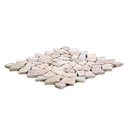 Divero 9 Matten 33 x 33cm Marmor Naturstein-Mosaik