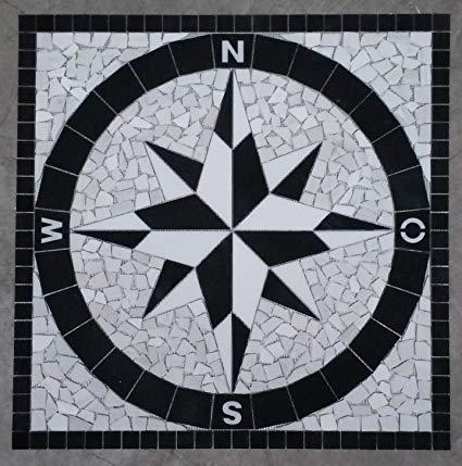 Estile Mosaico Marmor Rosone 120x120 cm