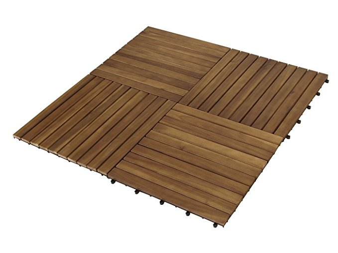 Gartenmöbel-Einkauf XL Holzfliesen