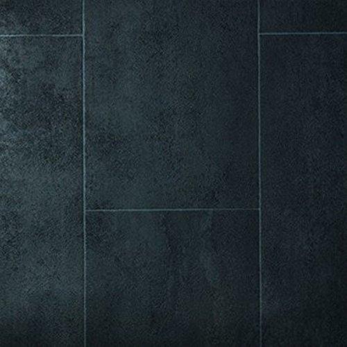 Living Floor PVC Bodenbelag Fliese Anthrazit
