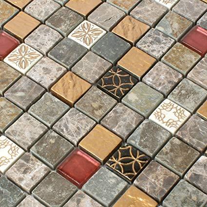 Mosafil Glas Naturstein Mosaik Fliesen Mix Fliesen Test 2019