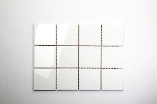 Mosako Keramikmosaik weiß glänzend