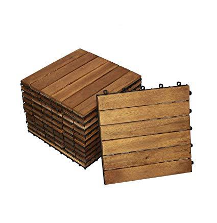 Sam Terrassenfliese 01 Akazienholz geölt