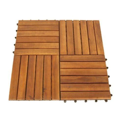 Set Holzfliesen (12 Stück) aus Akazienholz
