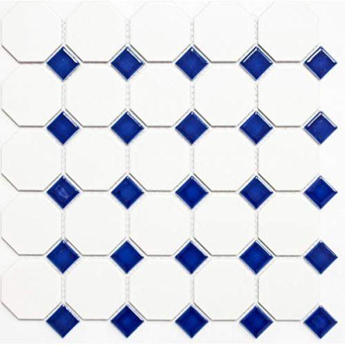 MOSANI Keramikfliesen blau Octagon