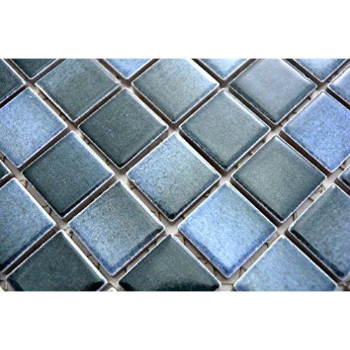 Mosaik-Netzwerk Keramikfliese blau