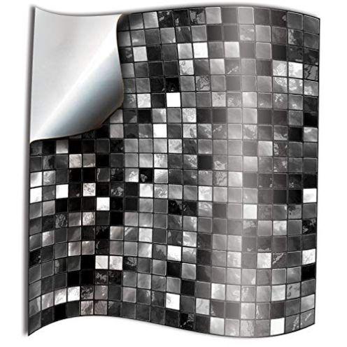 Tile Style Decal Fliesenaufkleber (TP3-6 Black and White)