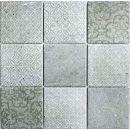 Mosaik-Netzwerk Retro Vintage Mosaik Fliese Keramik grau