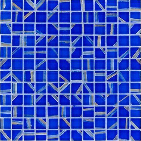 Mosaik-Netzwerk Glasmosaik Fliese blau