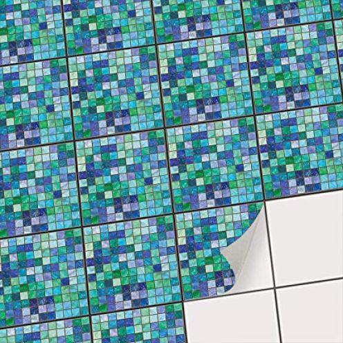 creatisto Motiv Mosaik Grün-Blau
