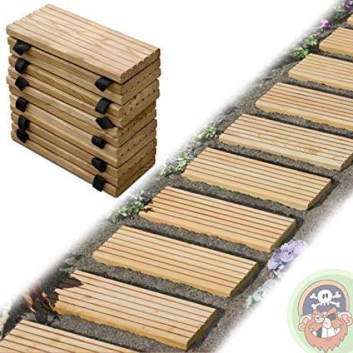 Gartenpirat Rollweg Holz 25x250 cm