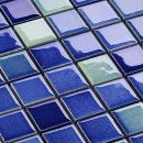 hardys Keramik Mosaik Fliesen Blau Mix Glänzend 6 mm