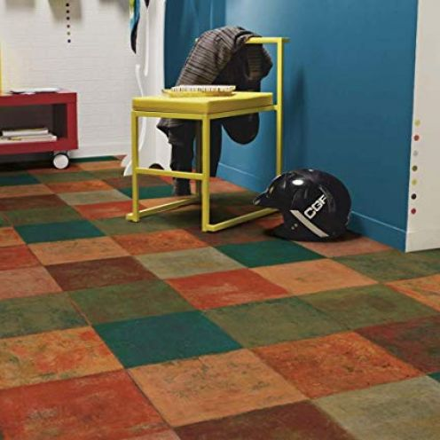 Living Floor PVC Bodenbelag Mediterranes Fliesendekor