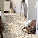 Living Floor PVC Bodenbelag Shabby Retro Mediterran