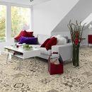 Living Floor PVC Bodenbelag Shabby Retro Schwarz weiß