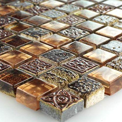 Mosafil Glas Marmor Mosaik Fliesen