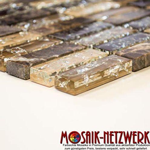 Mosaik-Netzwerk Stäbchen Crystal/Stein mix