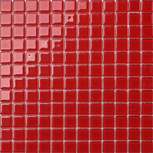 Glas Mosaik Fliese Rot