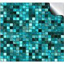 Tile Style Decals Fliesenaufkleber türkis